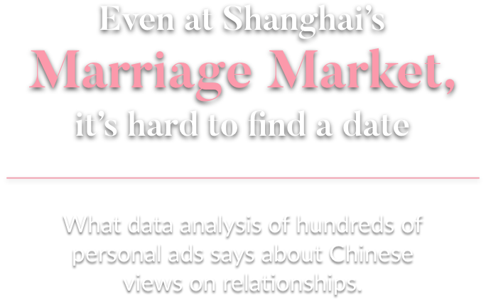Shanghai dating market